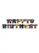 Justice League™ Geburtstags-Girlande bunt 182 cm