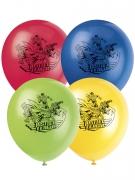 Justice League™-Luftballons aus Latex 8 Stück bunt 30 cm