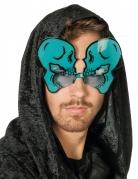 Witzige Totenkopf-Brille für Erwachsene blau