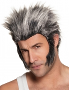 Werwolf-Perücke für Herren grau-schwarz