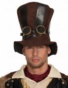 Steampunk-Hut mit Fliegerbrille braun