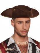 Piratenhut Dreispitz Kostüm-Accessoire braun