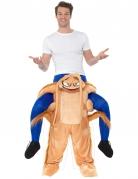 Carry-Me-Kakerlakenkostüm für Erwachsene beige