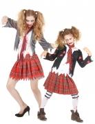 Untote Highschool-Schülerinnen Mutter-Tochter-Paarkostüm Halloween weiss-rot