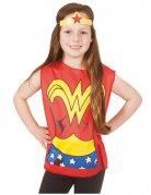 Wonder Woman™ Kinder T-Shirt und Stirnband bunt