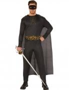 Zorro™-Kostüm für Erwachsene Lizenzartikel schwarz