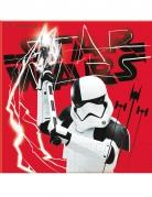 Servietten Star Wars Die letzten Jedi™ 20 Stück schwarz-weiss-rot 33x33cm