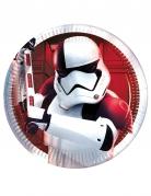 Star Wars™-Pappteller Lizenzartikel 8 Stück weiss-schwarz-rot