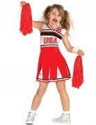 Zombie-Cheerleaderkostüm für Mädchen Halloweenkostüm rot-weiss