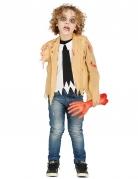 Armloser Zombie Halloween-Kinderkostüm beige-weiss-schwarz
