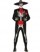 Tag der Toten-Skelettkostüm für Herren schwarz-weiss-rot