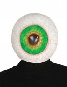 Riesenaugen-Maske Halloween-Maske weiß-grün