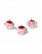 Augapfel-Kerze für Halloween weiss-rot 4cm