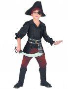Piratenkostüm für Jungen schwarz-rot