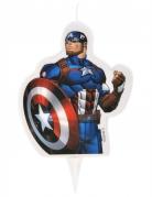 Captain America™-Geburtstagskerze bunt 6 x 7,3 cm