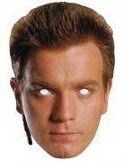 Obi Wan Kenobi™-Maske Star Wars™-Lizenzartikel hautfarben
