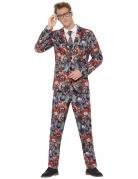 Halloween-Anzug mit Clowns für Herren bunt