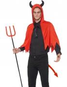 Teufels-Kostümzubehör-Set für Erwachsene rot-schwarz