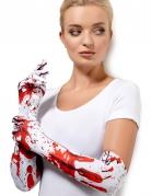 Handschuhe blutig weiss-rot