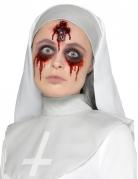 Kruzifix-Wunde aus Latex für Halloween rot