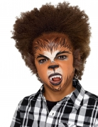 Werwolf Make-up-Set für Kinder 6-teilig braun-schwarz