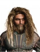Aquaman™ Perücke und Bart für Herren braun