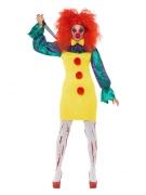 Killerclown-Kostüm für Damen bunt