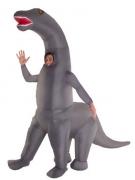 Horror Dino-Kostüm Diplodocus schwarz-weiss