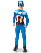 Captain America™-Kinderkostüm mit Maske blau-weiss-rot