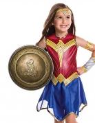 Wonder Woman™-Kinderschild goldfarben 30 cm
