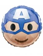 Captain America™ Alu-Ballon Emoji blau-weiss-hautfarben 43 cm