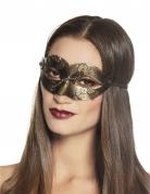 Schimmernde Steampunk-Augenmaske für Damen goldfarben