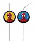 Spider-Man™ Strohhalme 6 Stück bunt
