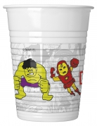 Avengers™-Plastikbecher Pop-Comic 8 Stück bunt 200 ml