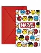 Avengers™ Pop-Comic Einladungskarten mit Umschlägen 6 Stück bunt