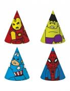 Avengers™-Partyhüte Pop-Comic 6 Stück bunt