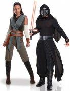 Star Wars™-Paarkostüm Rey und Kylo Ren Lizenzartikel grau-schwarz
