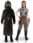 Star Wars™-Kinderpaarkostüm Kylo Ren und Rey Lizenzartikel schwarz-grau
