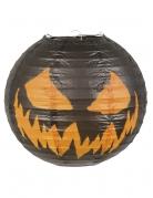 Papierlaterne Kürbis Halloween-Deko schwarz-orange 25cm