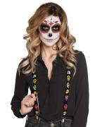 Tag der Toten Hosenträger mit Skeletten Accessoires bunt-schwarz