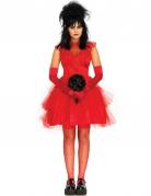 Gothic-Braut Damenkostüm für Halloween rot