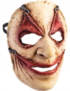 Grausame Horrormaske Serienkiller-Maske hautfarben-rot
