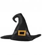 Hexenhut-Ballon Partydeko für Halloween schwarz-gold 99x68cm