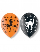 Ballon-Set Halloween 6 Stück orange-schwarz 27,5cm