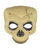 Tag der Toten-Halbmaske beige-schwarz