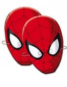 Spider-Man Pappmasken 6 Stück rot-schwarz-weiss