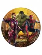 Avengers™-Pappteller 8 Stück bunt 23 cm