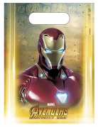Avengers Infinity War™-Geschenktüten 6 Stück bunt  23 x 16,5 cm
