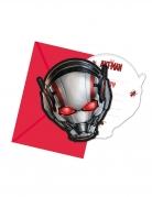 Ant-Man™ Einladungskarten 6 Stück rot-grau 14 x 9 cm