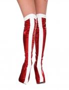 Wonder Woman™ Überstiefel für Damen Accessoire weiss-rot